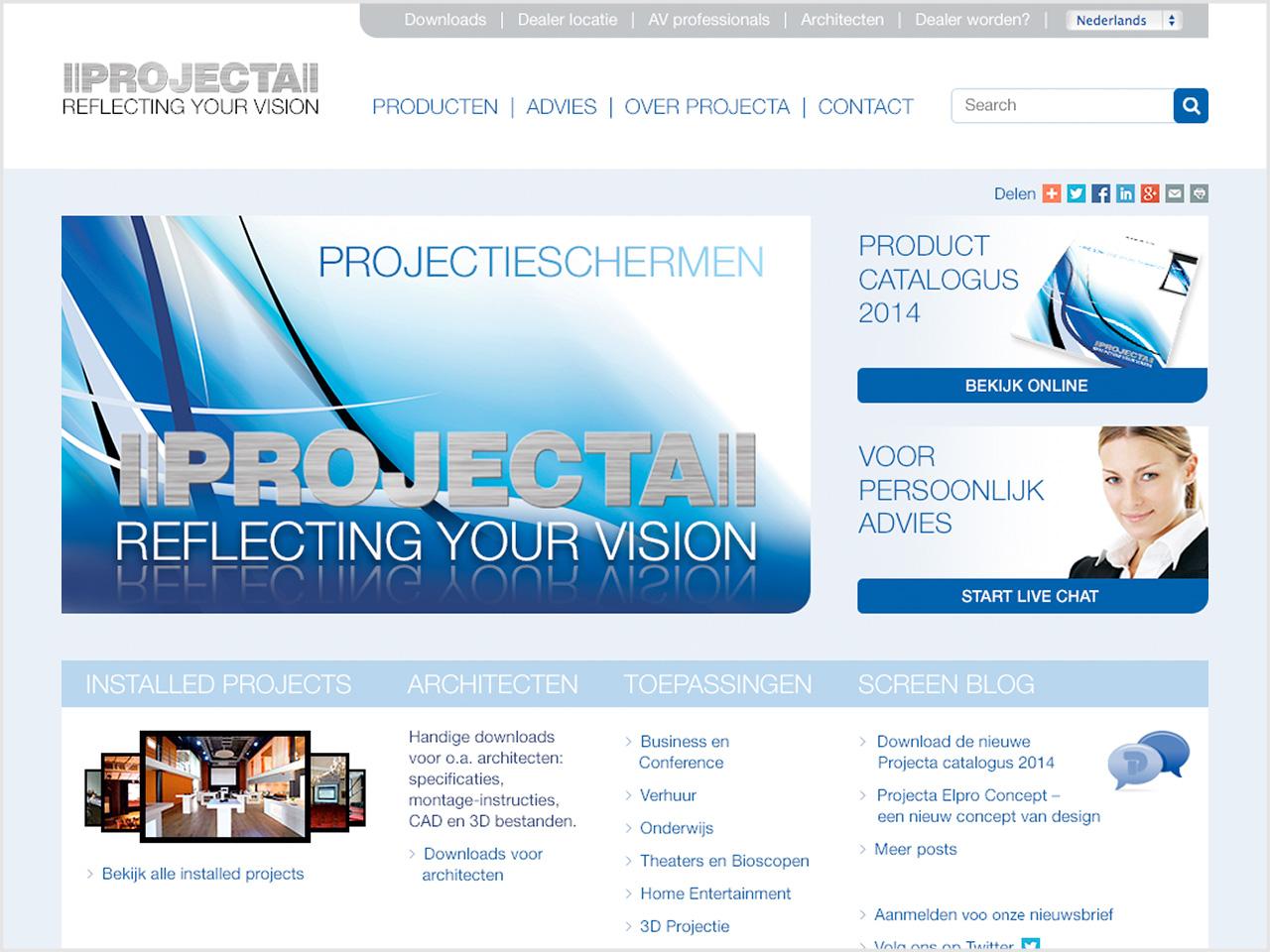 Projecta website >>
